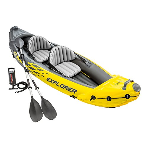 Intex 68307NP - Kayak hinchable Explorer K2 con 2 remos 312 x 91 x 51 cm