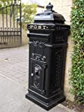 Black Vintage Style Aluminium POST Box Mail Box