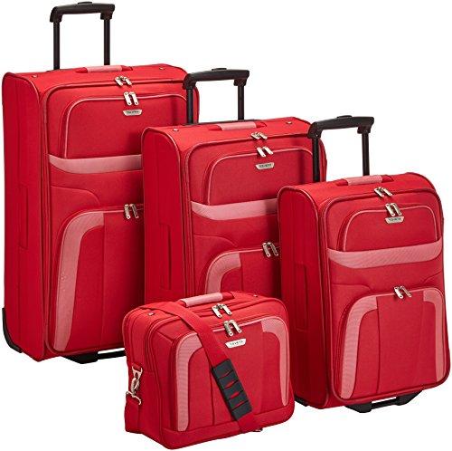 Travelite Koffer Orlando 2-Rad Trolley-Set 2 W L/M/S mit Flugbegleiter, 73 cm 193 Liters Rot 98480-10