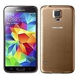 Samsung Galaxy S5 Smartphone (12,95 cm (5,1 Zoll) Touch-Display, 2,5 GHz Quad-Core Prozessor, 2 GB RAM, 16 Megapixel Kamera, Android 4.4) gold (Zertifiziert und Generalüberholt)