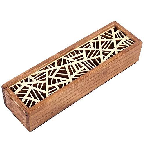 Multi slot Astuccio for matite in legno Scatola da scrivania Cancelleria Cartoleria for...