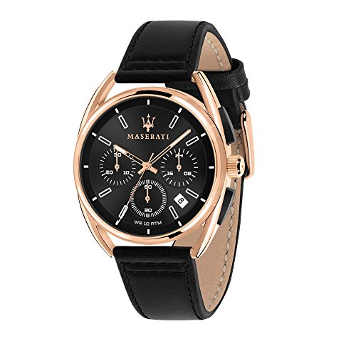 MASERATI Orologio Cronografo Quarzo Uomo con Cinturino in Pelle R8871632002