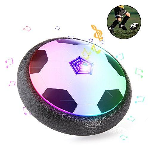 ZWOOS Air Hover Ball Calcio da Interno con Musica e LED, Pallone da Calcio Fluttuante per Giocare in...