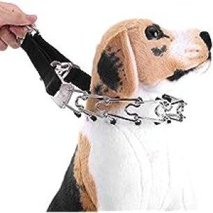 La Vie Perros cadena collar semi-strangolo perforadas a strozzo de cromo ajustable desmontable para perros perro