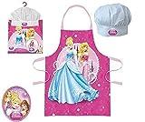 Princesas Disney - Set de cocina infantil, delantal y gorro cocinero (Suncity DPE101021)