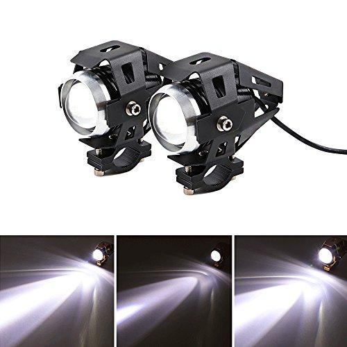 2 Stück Motorrad Scheinwerfer U5 3000LM Motorrad Frontscheinwerfer 3 Modi von Fernlicht Abblendlicht Und Blinkt