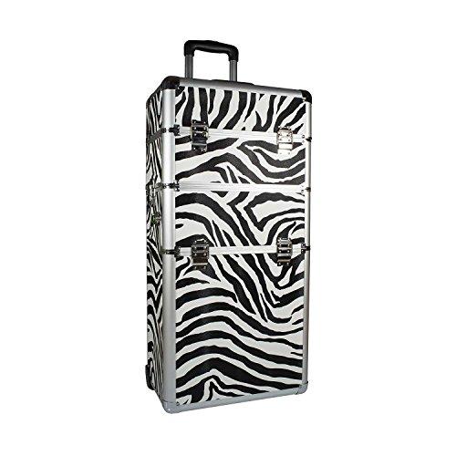 kosmetiktrolley Zebra design parrucchiere Beauty Case Valigetta per trucchi