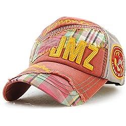 GKRY Baseball Cap,Snapback,Trucker Cap,Mütze,Golf Sport Outdoor Kappe Hut Männer und Damen Baseball Cap, Wein rot