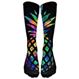 Long Dress Socks Cotton Pineapple Colorful Athletic Comfortable Breathable Over-the-Calf Tube