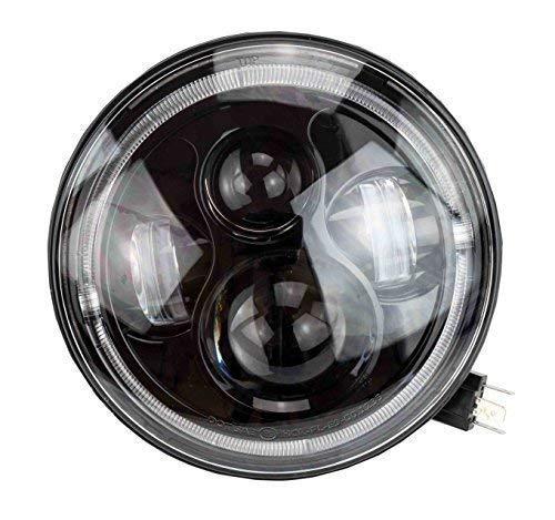 """7\"""" Zoll - 178 mm LED Scheinwerfer rund zugelassen mit E-Nummer"""