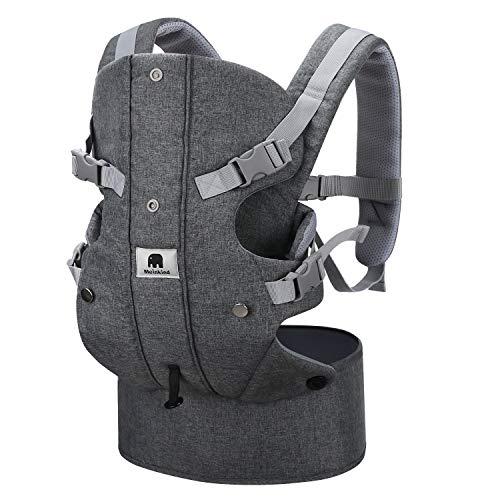 Meinkind Porte-Bébé Ergonomique Multi-Fonctions Ajustable en Pur Coton, pour Bébé de 3,5-15 kg...