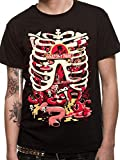 Cid Rick and Morty-Anatomy Park, T-Shirt Homme, Noir, Small