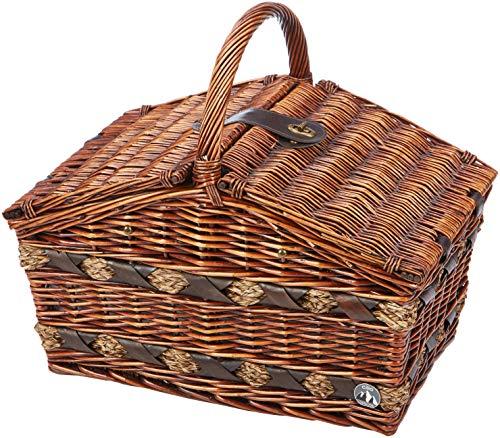 Cilio 155105 Picknick-Korb Como, 4 Personen, braun
