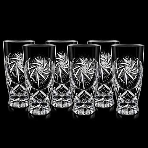 Cristallo originale Irena 6 pz. Bicchiere da cocktail Bicchiere da cocktail in vetro soffiato da 300ml Bicchiere da cocktail in vetro di whisky Ø7,5xH15cm