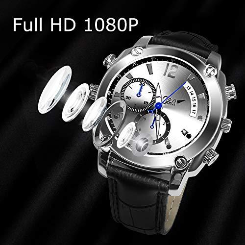 Caméra Espion,LYLINKTECH HD 1080p Montre Espion avec Caméra Cachée De 16 Go avec Fonction Imperméable Et Vision Nocturne 8