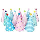 Olen Gorros Fiesta Cumpleaños de Fiesta con Pompones, 12 Piezas