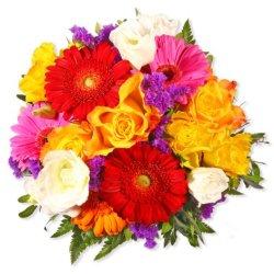"""floristikvergleich.de Blumenstrauß Blumenversand """"Vielen lieben Dank"""" +Gratis Grußkarte+Wunschtermin+Frischhaltemittel+Geschenkverpackung"""