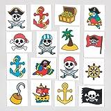 Calcomanías temporales de pirata para niños - Perfectas para bolsas sorpresa o como regalo para niños (pack de 24).