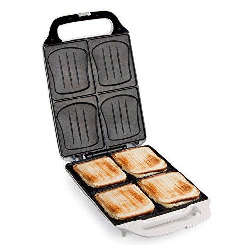 XL bifamigliare-sandwich-tostapane, 4 sandwich maker conchiglia form, back semàforo per ideale back...