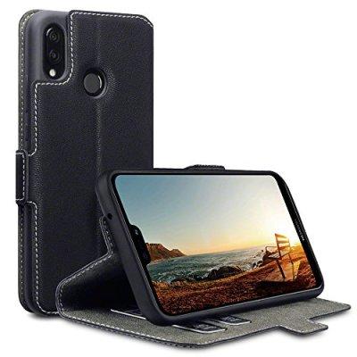 Custodia Huawei P20 Lite, Terrapin Cover di Pelle con Funzione di Appoggio Posteriore per Huawei P20 Lite Cover Pelle, Colore: Nero