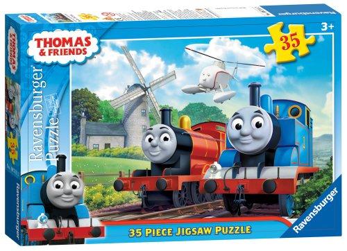 Ravensburger, Thomas e gli amici 35 puzzle pc - design mulino a vento.