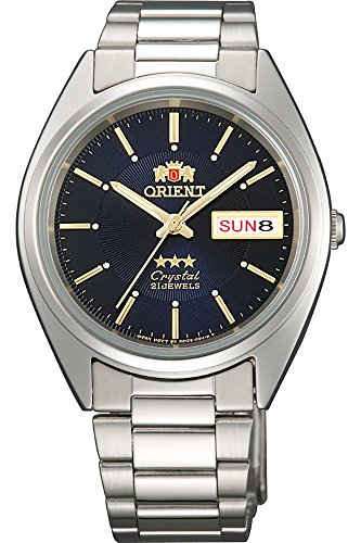 Orient Unisex Erwachsene Analog Automatik Uhr mit Edelstahl Armband FAB00006D9