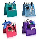 Pack 4 organizadores de enfermería Keen's para bata o pijama | Colores: 1 morado, 1 rosa, 1 azul y 1 verde | Lote ahorro | Elite Bags | Medidas: 14,5 x 12 cm