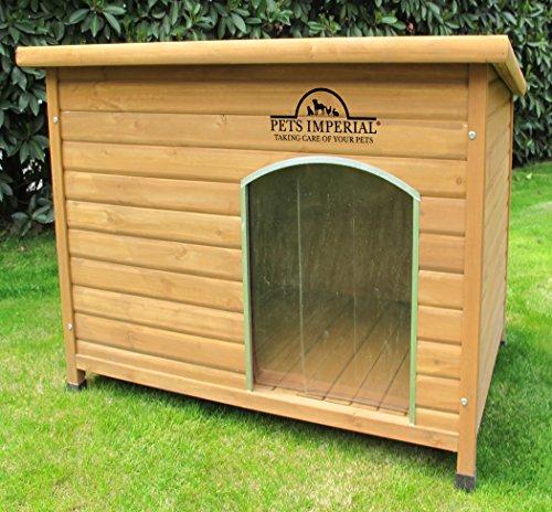 Kennels Imperial Norfolk Cuccia Per Cani Canile Isolato Grande in Legno con Pavimento Rimovibile per...