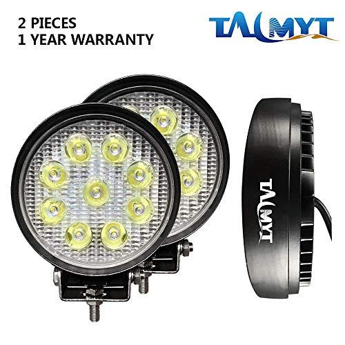 Faro a LED, 2 X 27W LED lavoro fuori strada luce lampade riflettore proiettore per Off Road Moto 4WD...
