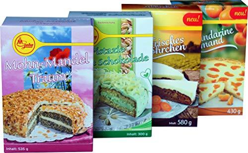 Geha Mühlen Backmischungen (Mohn-Mandel-Traum, Pistazie-Weiße Schokolade, Mandarine Schmand, Frisches Möhrchen)