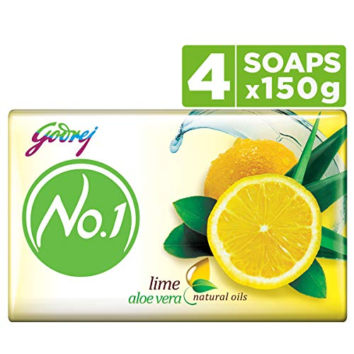Godrej No.1 Bathing Soap ? Lime & Aloe Vera, 150g (Pack of 4)
