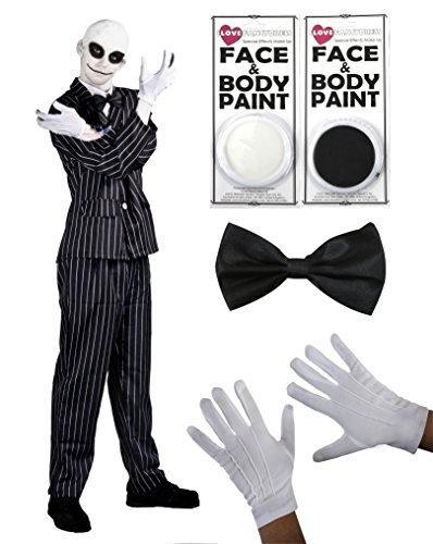 Ilivefancydress - Costume da Mr Jack di 'Nightmare Before Christman' composto da completo gessato,...