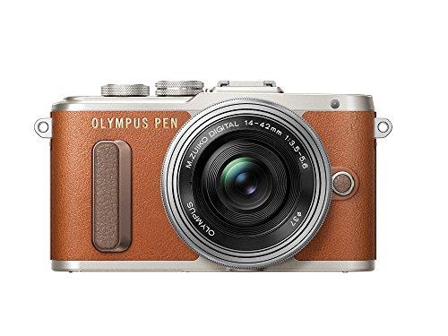 Olympus E-PL8 Fotocamera con Obbiettivo 14-42 mm, Marrone