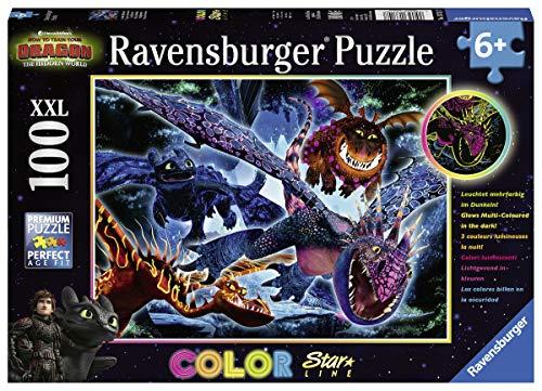 Ravensburger 13710 Dragons B Puzzle, 100 Pezzi