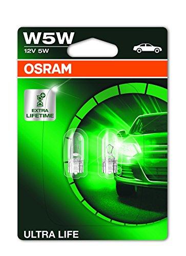 OSRAM 2825ULT-02B Ultra Life Lampadine macchina, Doppia ampolla, W5W