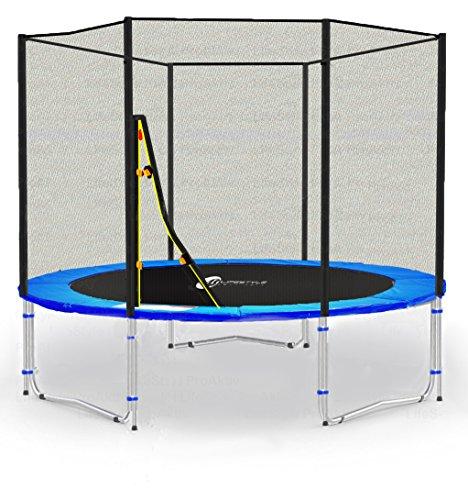 LS-T185-PA6 (B) LifeStyle ProAktiv Cama elástica para jardín 185 cm - Extra Fuerte red de seguridad, Probado por la seguridad y la función …