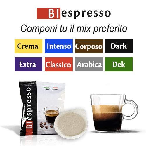 Biespresso 200 capsule Cialde formato XP (38mm) , miscela a SCELTA, caffè italiano