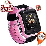 Reloj Infantil Smartwatch para Niños Con llamada Toque HD Pantalla SOS GPS Despertador Compatible con Android IOS App (1.44 Pulgadas - Rosa)