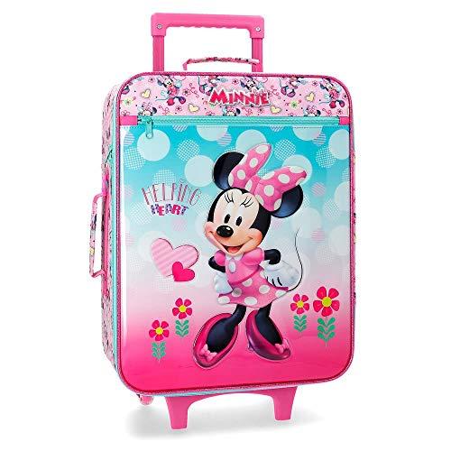 Disney Minnie Heart Bagaglio a mano 50 centimeters 31.5 Rosa