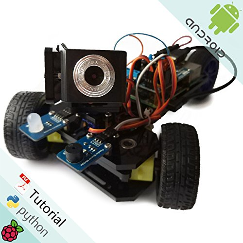 Freenove Three-Wheeled Smart Car Kit for Raspberry Pi | Model 3B+ 3B 2B 1B+ | Detailed Tutorial | Android App | Robot Camera Video Wi-Fi Wireless Servo Ultrasonic