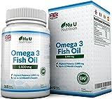 Omega 3 - Aceite de Pescado - 1000 mg - 365 Cápsulas (Suministro Anual) - Complemento alimenticio de Nu U Nutrition