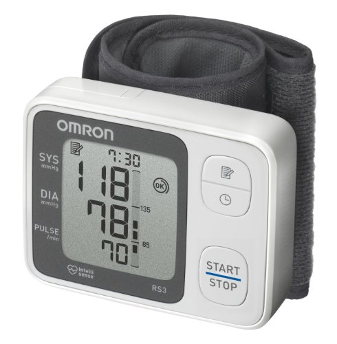 OMRON RS3 Misuratore di Pressione da Polso, Sensore di Irregolaritá Battito Cardiaco, Validato...