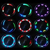 SOONHUA 14 LED Motorcycle Cycling Bicycle Bike Wheel Signal Tire Spoke Light 30 Changes Pictures