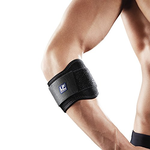 LP Support 751-KM Tennisarmbandage - Tennisarm-Spange - Golfarmbandage - Sportbandage - Ellenbogen-Bandage, Größe:Universalgröße, Farbe:1 x schwarz