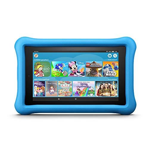 Fire 7 Kids Edition-Tablet, 17,7 cm (7 Zoll) Display, 16 GB, blaue kindgerechte Hülle (vorherige Generation – 7.)