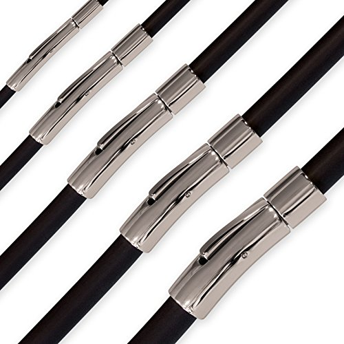 Fly Style Damen Herren Kautschuk Halskette oder Armband, Längen:ca. 60.0 cm, Stärke:3 mm