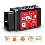 Audew OBD2 Diagnostic OBDII WiFi - Lecteur de Code de Défaut Voiture Scanner de Panne Interface OBDII Elm 327 Version II- Connecté à iOS, Android Windows Symbian(Ne Convient Pas aux véhicules...
