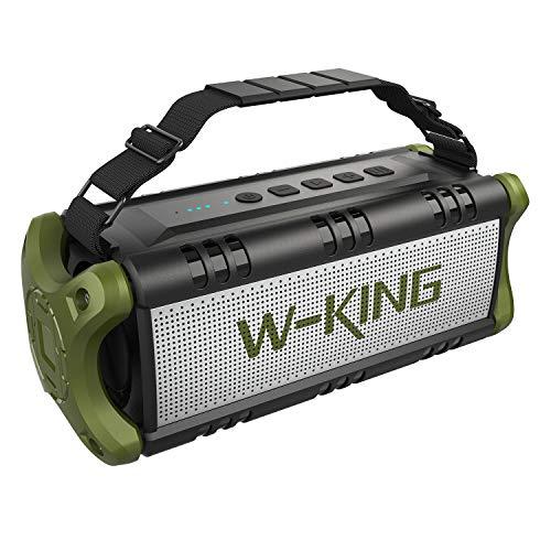 W-KING Altoparlante Bluetooth Portatili - 24 Ore di Riproduzione - 50W Portatile Speaker con Bassi...