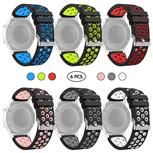 kitway Gear S3 Frontier/Classic Watch Cinturino, Braccialetto di Ricambio in Silicone Sportivo Cinturino per Samsung Gear S3 Frontier/S3 Classic/Moto 360 2 nd Gen 46 mm Smart Watch