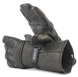 Blok-iT Ganzleder-Motorrad-Handschuhe Handschuhe sind Thermisch, aus 3M Thinsulate Material. Für Mountainbiker, Krafträder & Motorradfahrer 8